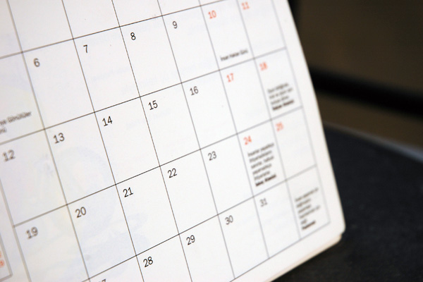 Calendar of Events - January 2018